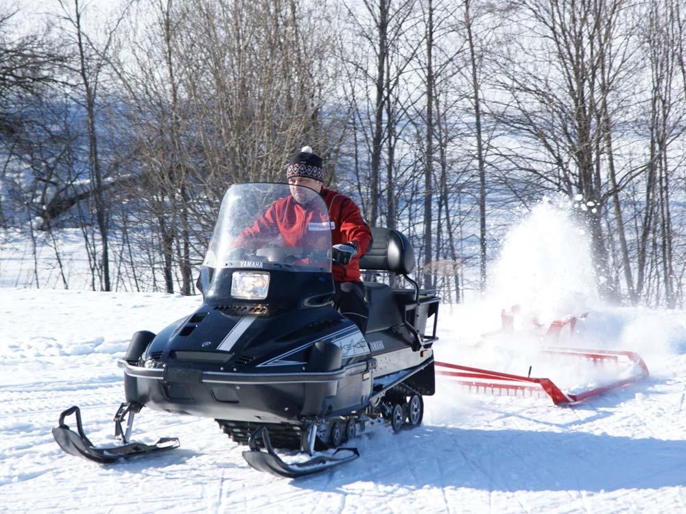 Подготовка лыжной трассы
