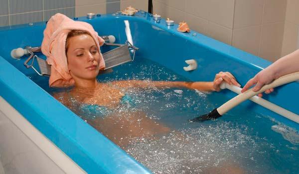 Особенности сеансов подводного душа-массажа